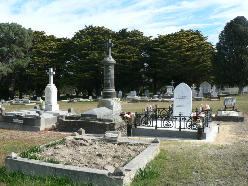 Cape Clear Cemetery, view over gravestones looking to the west.