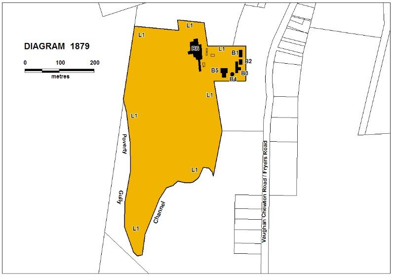 H1879 Wattle Gully extent plan
