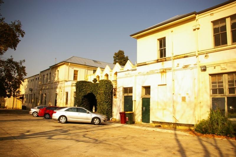 H2170 St Vincent de Paul Boys Orphanage rear cecil st buildings inc grotto detention plate