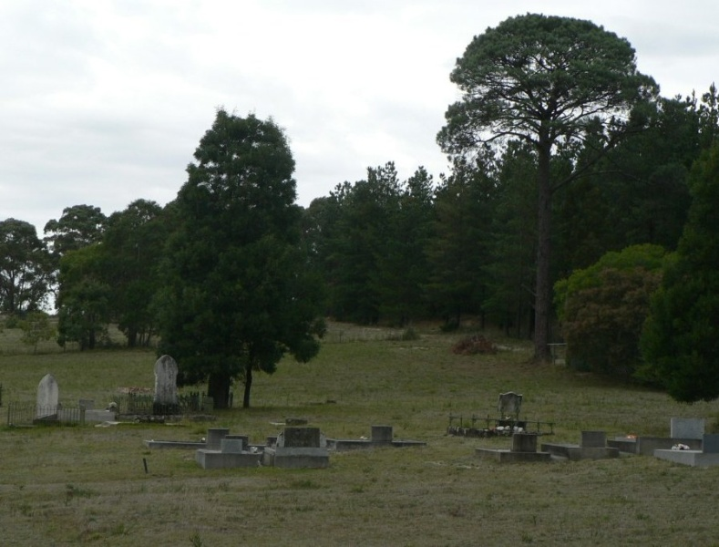 Staffordshire Reef Cemetery Donald McLeans Rd (view looking east)