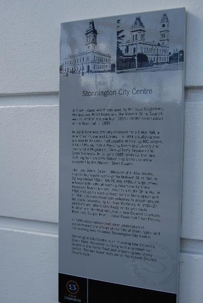 4679 Town Hall 1251 High Street Malvern History Plaque 1