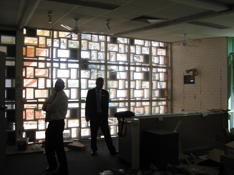 Former Shire Offices_Benalla_screen from inside_KJ_Sept 08
