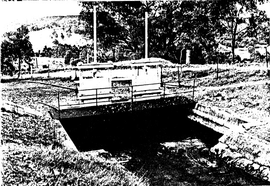 2 - Maroondah Aqueduct Kangaroo Ground Eltham N03 - Shire of Eltham Heritage Study 1992 - Inverted syphon across Watsons Creek, one of fourteen totalling 14.88 km of the 65.97 km total length of the Maroondah Aqueduct