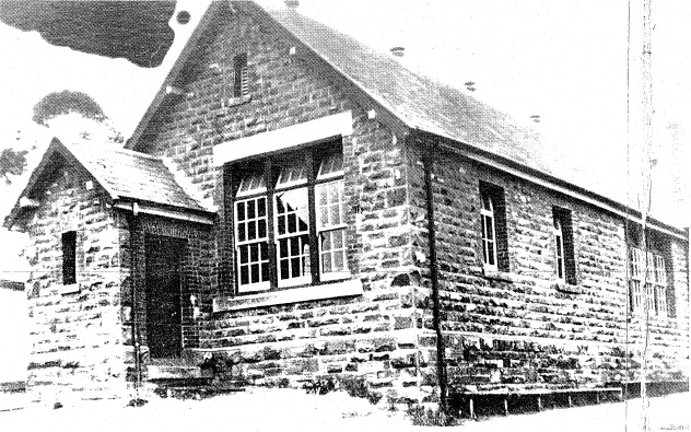 50 - Eltham Primary School Dalton St - Early 20th century photograph taken after the installation of larger windows, a process undertaken at many Victorian State Schools at that time. Note the smaller windows, which are presumably original (ELHPC No.642)