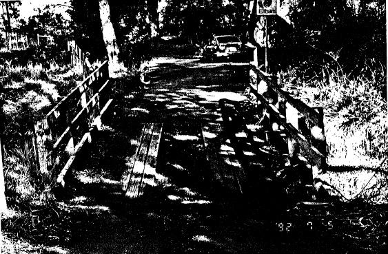 59 - Timber Trestle Bridge Arthurs Creek Eagles Nest Rd - Shire of Eltham Heritage Study 1992