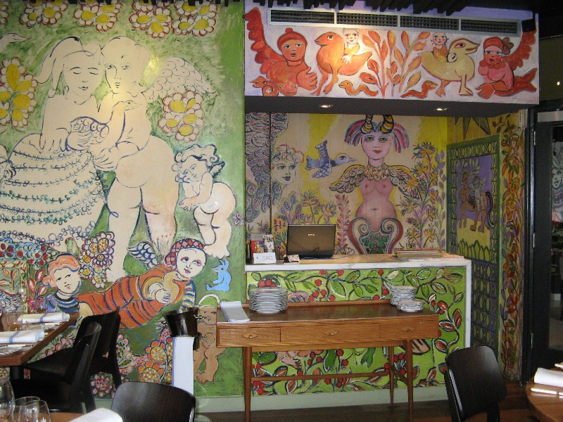 Mirka at Tolarno_St Kilda _restaurant murals_KJ_13 Oct o8