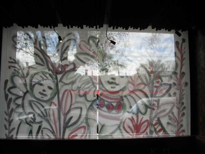 Mirka at Tolarno_St Kilda_new blinds in restaurant_KJ_13 Oct o8