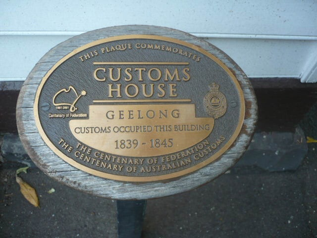 H0185 Botanical Garden First Customs House Plaque 1