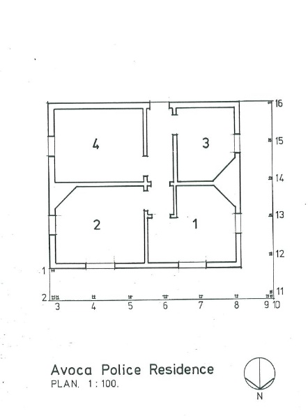 Avoca police residence measured drawings