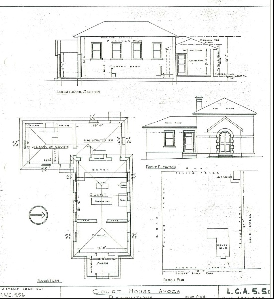 Avoca Court House plan