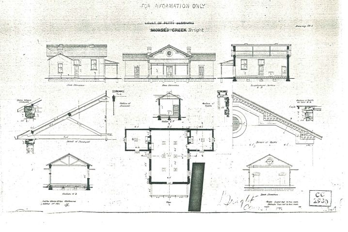 Bright court house architectural plan