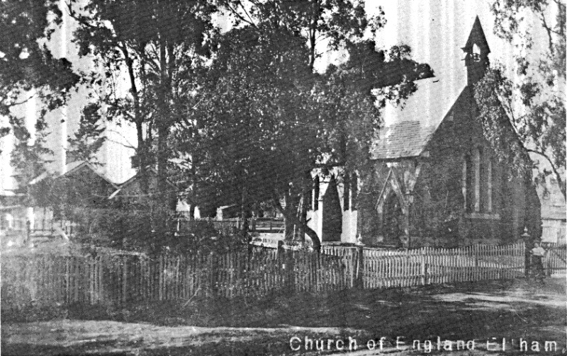 247 - St Margarets Anglican Church Eltham - Old photograph of St. Margaret's (ELHPC no.?) - Shire of Eltham Heritage Study 1992
