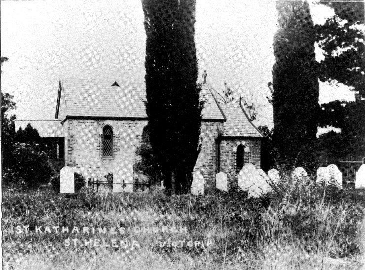 247 - St Margarets Anglican Church Eltham 16 - St Katherine's Church at St. Helena (ELHPC No. 900) - Shire of Eltham Heritage Study 1992