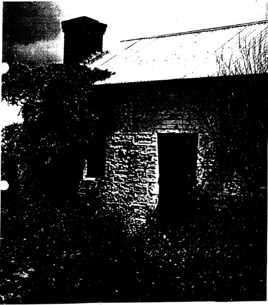 268 - Sweeneys Cottage Eltham 05 - 1949? photograph of a stone cottage stated to have been part of Sweeney's homestead - Shire of Eltham Heritage Study 1992