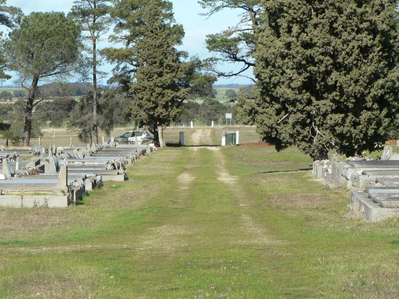 Looking south towards front gate of Rokewood Cemetery