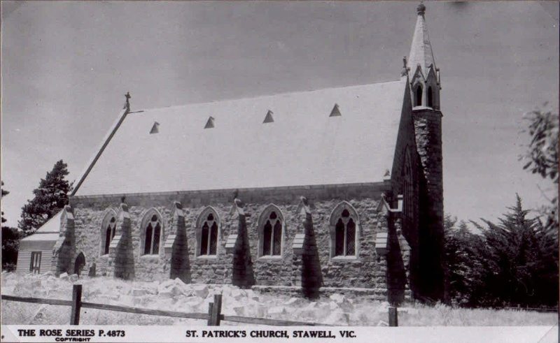 SL 256d - Stawell Historical Society Collection. Sacristy not built.