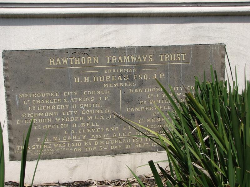 FORMER HAWTHORN TRAMWAYS TRUST DEPOT SOHE 2008