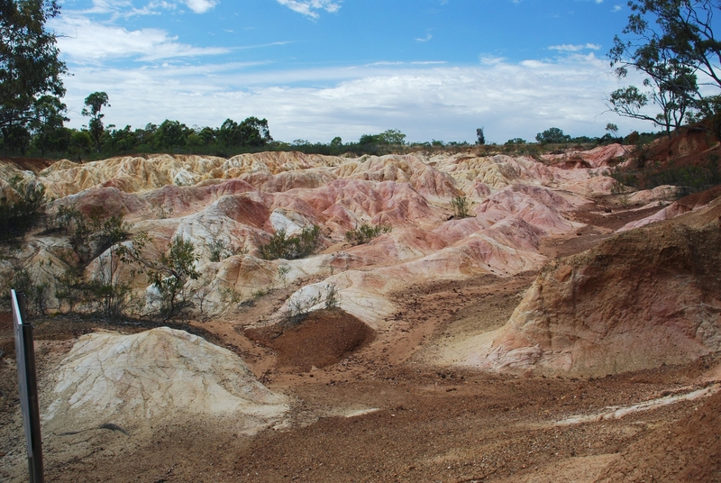 PINK CLIFFS HYDRAULIC GOLD SLUICING SITE SOHE 2008