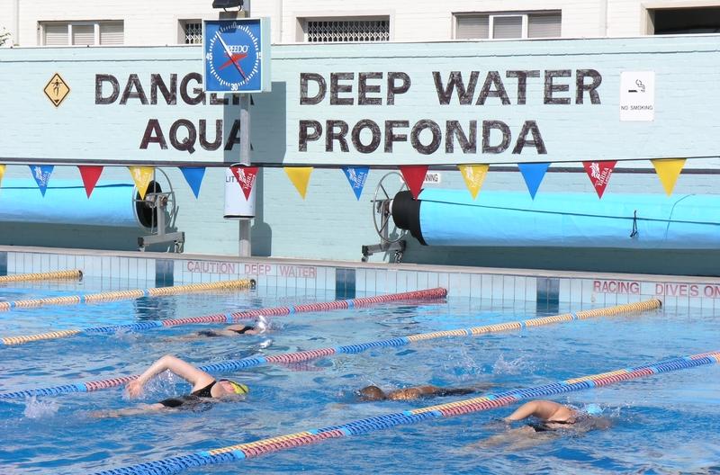 """""""AQUA PROFONDA"""" SIGN, FITZROY POOL SOHE 2008"""