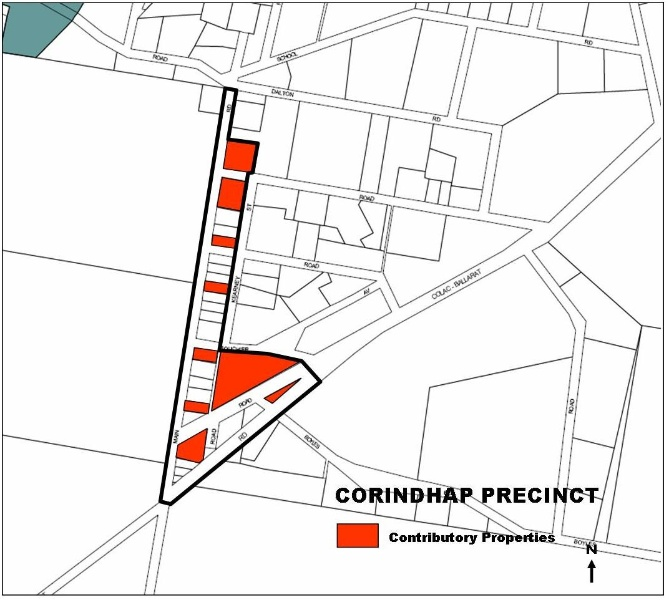 Corindhap Heritage Precinct Map