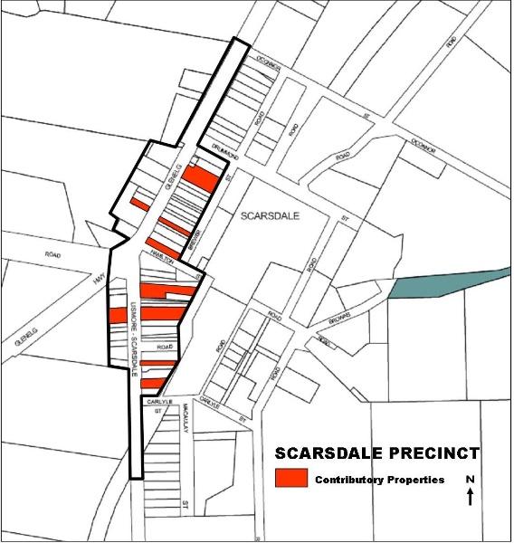 Scarsdale Heritage Precinct Map