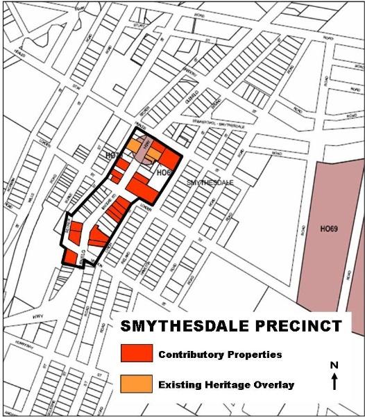 Smythesdale Heritage Precinct Map