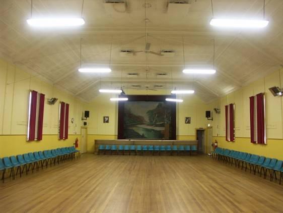Globe Theatre Winchelsea interior of auditorium 2009