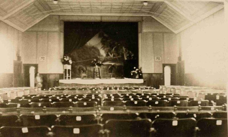Globe Theatre Winchelsea interior of auditorium 1928