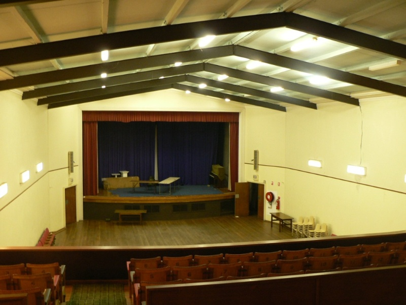 Memorial Hall Koroit interior of auditorium 1 2009