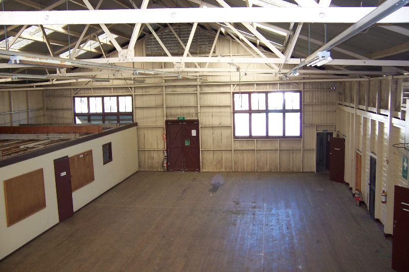 Drill Hall internal prior to conversion to sport facility