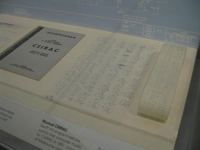 PROV H2217 CSIRAC material on display including Interprogram Manual