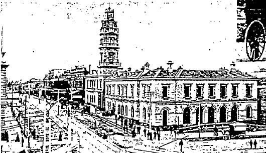 Ballarat Post Office03 - Post office with open colonnade - Ballarat Conservation Study, 1978