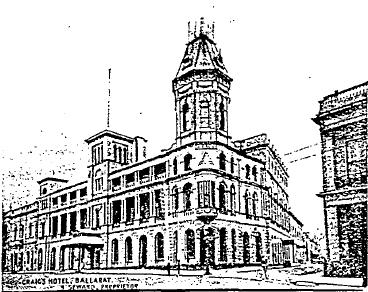 Craigs Royal Hotel03 - Early Postcard - Ballarat Conservation Study, 1978