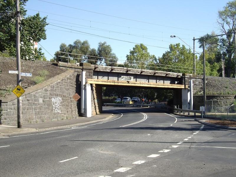 HO147 - Railway Bridge, Nicholson Street Rail overpass, Nicholson Street, Footscray.JPG