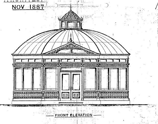 Statuary Pavilion - Front elevation - Ballarat Conservation Study, 1978