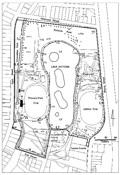 Princes Park plan