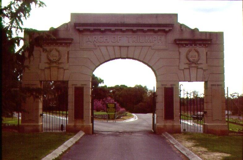 Arch of Triumph, White Hills Botanic Gardens