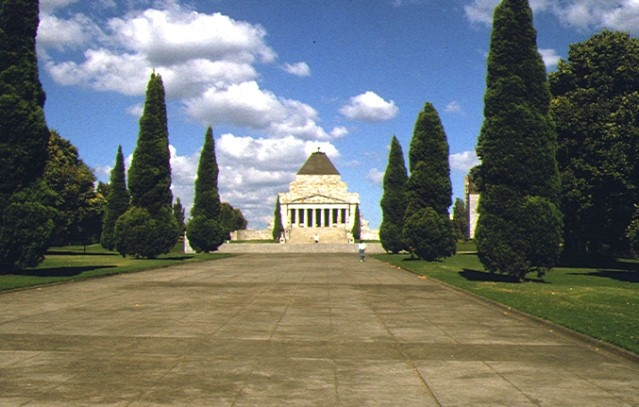 1 shrine of remembrance st kilda road melbourne front view