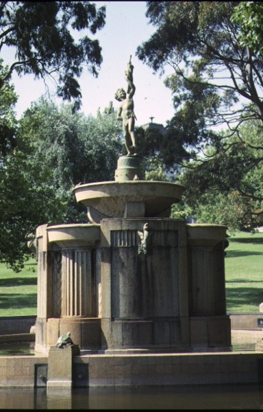 shrine of remembrance st kilda road melbourne macrobertson fountain nov1990