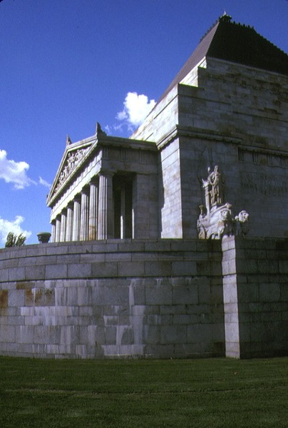 shrine of remembrance st kilda road melbourne side elevation
