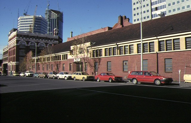 former royal australian army medical corps training depot a'beckett street melb front view 1990