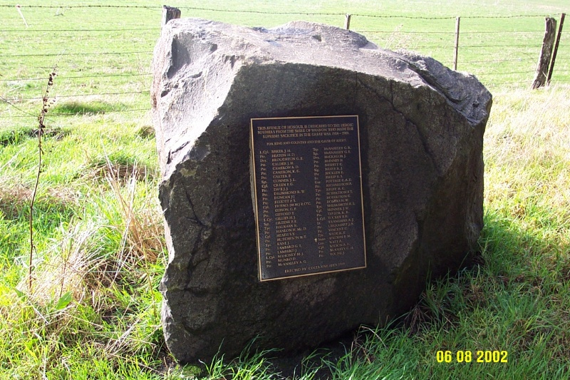 23130 Avenue of Honour Coleraine plaque 1274