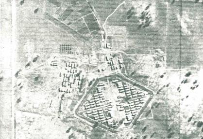 Aerial view of Rushworth camp 3 (European internees, 1940-6)