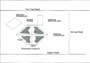 Key to Aerial view of Rushworth camp 3