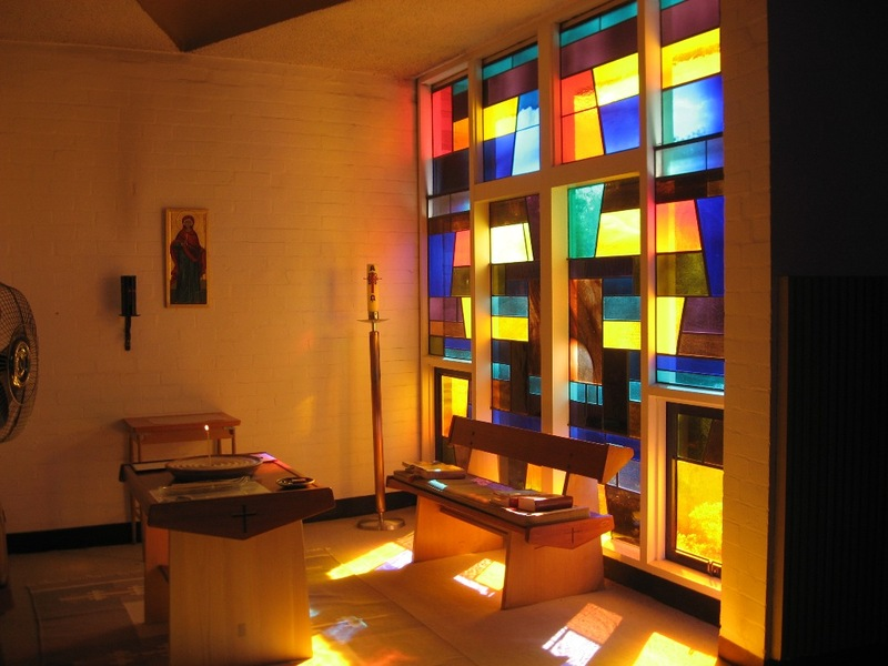 45050 St Faiths Anglican Church Glen Iris stained glass in former baptistery 2010
