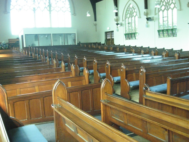 124816 Presbyterian Church Malvern view to rear of nave 2010