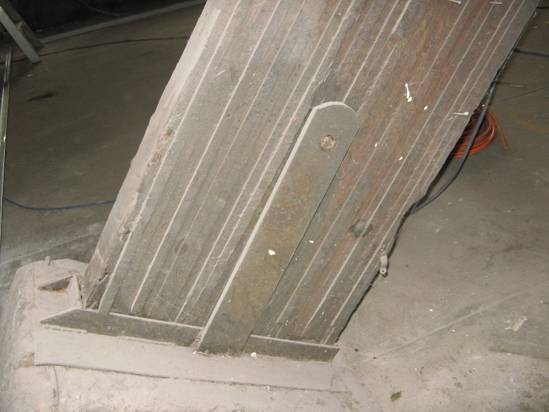 glue laminated beam abutment