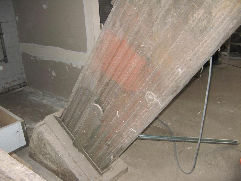 glue laminated beam abutment
