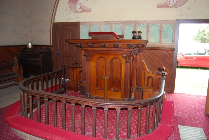 H2173 Black Lead Former Methodist Church and Hall - pulpit 8