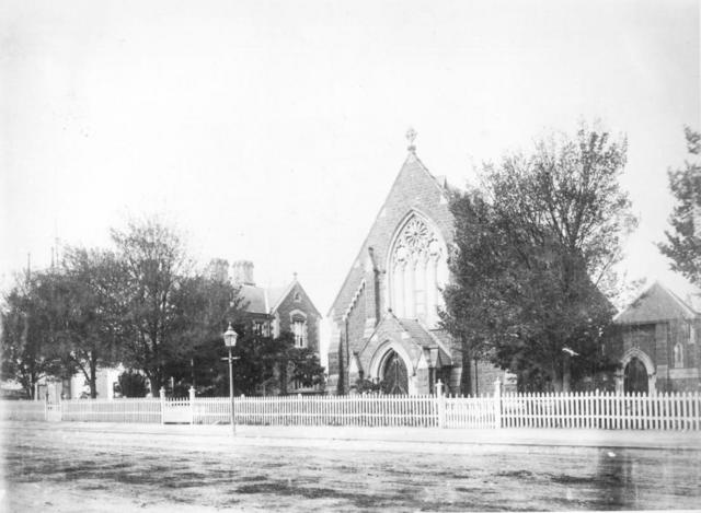 Church and Vicarage c1886